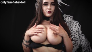 ASMR POV Big Titty Goth Girl Ties You Up And Puts Tits And ass In Your Face