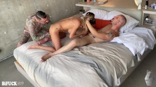 Leo Rex's First Bisexual MMF Threesome!
