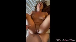 Whore gets fucked and creampied in water park hotel