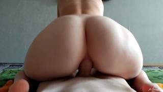 Sexy blonde multiple anal orgasm