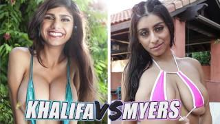 BANGBROS - Battle Of The GOATs: Mia Khalifa vs Violet Myers
