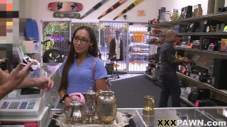 XXX PAWN - Latin Essential Worker Joanna James Needs Money Fast, So She Visits My Store In Search Of