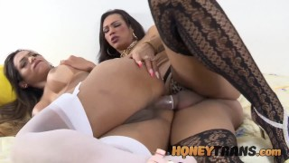 Latina Trans Milainny Vilhena Cums While Getting Anal From Her Lover