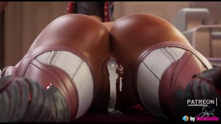 Loba Rough Pussy Creampie (with HQ sound) 3d animation Apex Legends hentai sfm blender doggystyle