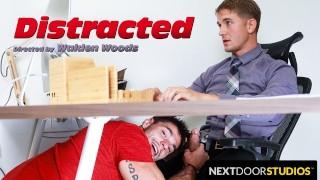 NextDoorStudios - Brandon Anderson Banged & Blown During Zoom Meeting