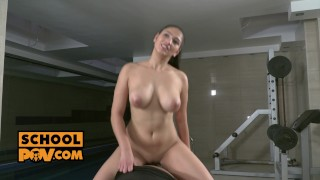 Curvy crying babe comforted by your cock in her pussy