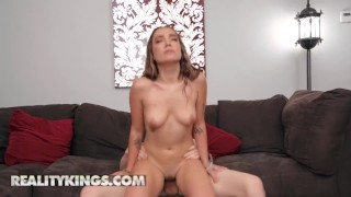 Reality Kings - Bailey Base Is Chilling Topless & Catches Her Neighbor Jimmy Michaels Watching Her