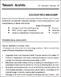 Sample Resume Accounting Manager. Financial Accounting Manager ...