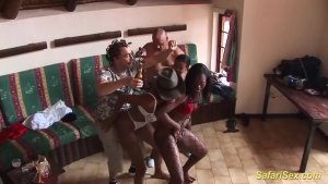 wild african party fuck orgy
