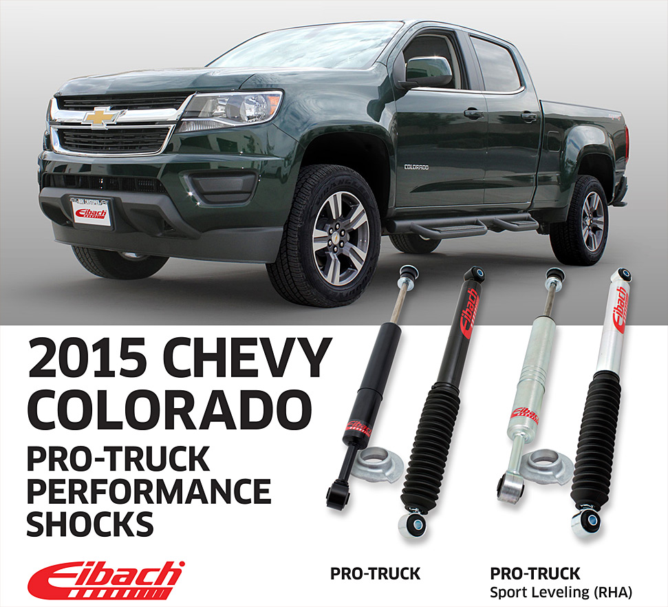 hight resolution of eibach pro truck sport shocks 2015 chevy colorado