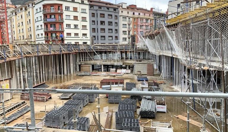 [eiberri.eus] Las obras de Errebal Plazia de Eibar finalizarán en noviembre del 2020
