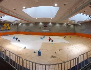 [eiberri.eus] Comienzan las obras de renovación de la pista central del polideportivo de Ermua
