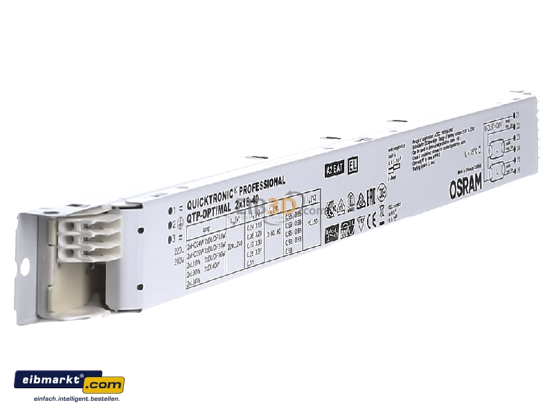 Electronic Ballast 2x18...40W QTP-OPTIMAL