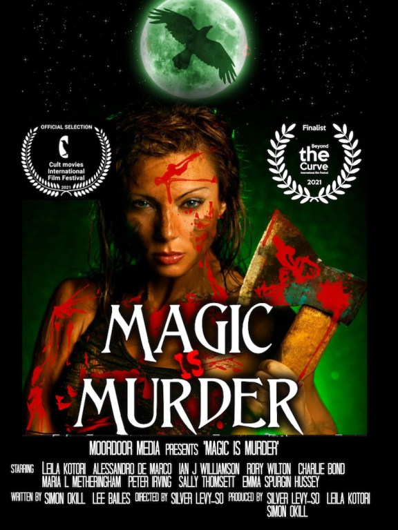 MAGIC IS MURDER poster with laurel