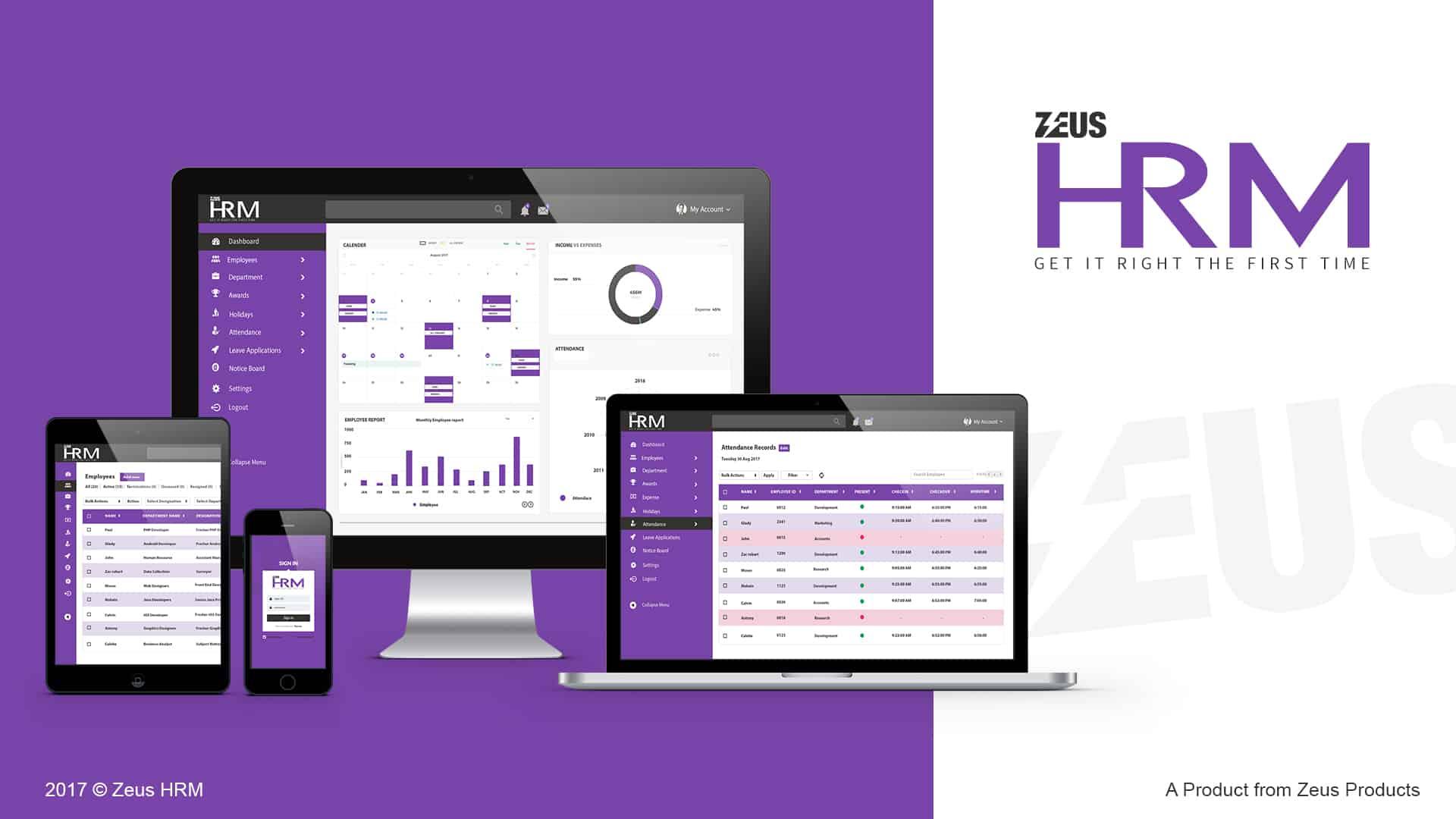 Zeus HRM Software portal eibs