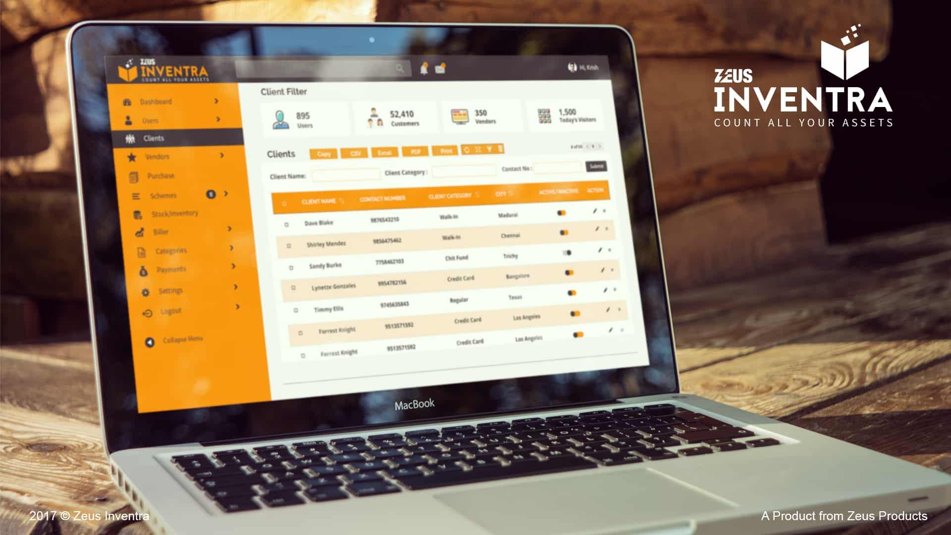 Zeus Inventory management software