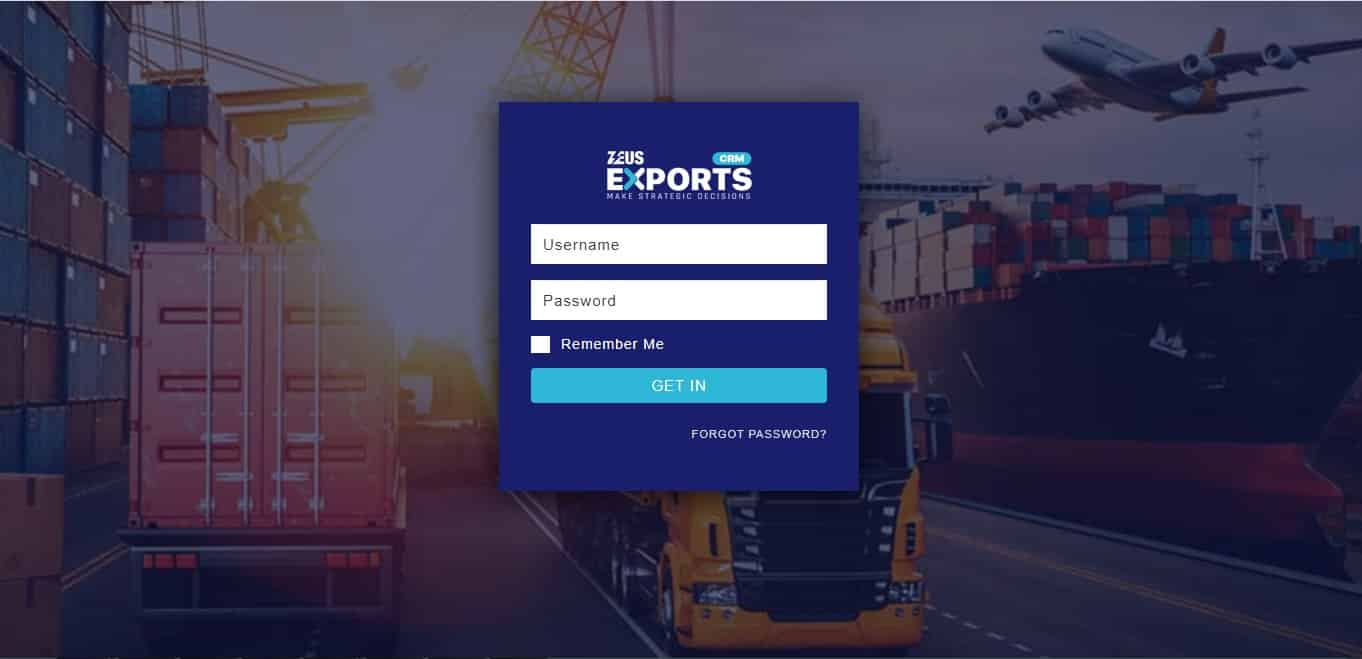 Zeus Exports – Login