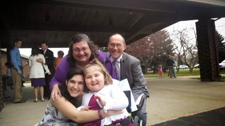 After the service, we said hi to my family before we headed down to Jessica's sister's house.