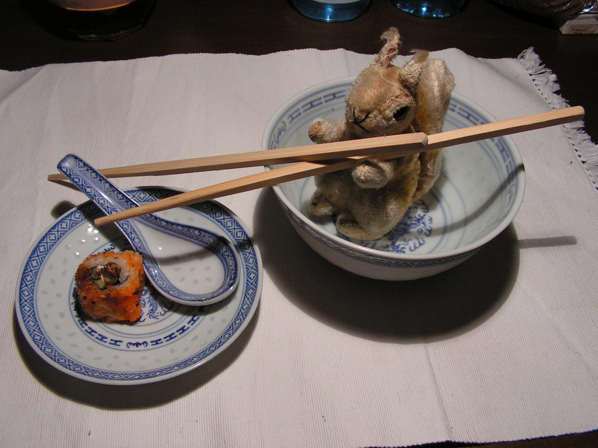 Eichi mit Sushi