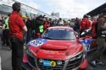 Nach zwei erfolgreichen Zeittrainings-Sitzungen stand der Audi R8 des Teams von Felix Baumgartner zum Rennstart in der ersten Startreihe. (Foto: Reiner Züll)