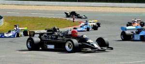 Einer der Höhepunkte beim Oldtimer Grand Prix  ist das Rennen der historischen Formel 1, bei dem Boliden der Baujahre 1966 bis 1985 am Start sind. Foto: Reiner Züll