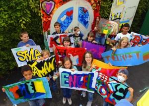 Zum Graffiti-Künstler werden konnten jetzt Jugendliche in Kall. Foto: Roman Hövel