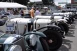 Millionenwerte haben diese legendären Mercedes-Vorkriegsrennenwagen, die beim Oldtimer Grand Prix in Reih und Glied standen. (Foto: Reiner Züll)