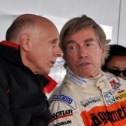 AvD-Vizepräsident Volker Strycek (links) im Gespräch mit dem adligen ehemaligen BMW-Rennfahrer Prinz Leopold von Bayern. (Foto: Reiner Züll)