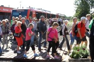 Durchschnittlich waren es 375 Fahrgäste pro Tag, die den Bördeexpress nutzten und so ihr Interesse an der Wiederbelebung der Strecke eindrücklich bekundeten. Bild: Tameer Gunnar Eden/Eifeler Presse Agentur/epa.