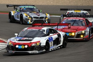 Ein Audi von Phoenix-Racing gewann im  vergangenen Jahr das 24-Stunden-Rennen. Beim Quali-Rennen im April wird es wieder einen spannenden Vierkampf zwischen Audi, Mercedes, Porsche und BMW geben. (Foto: Reiner Züll)