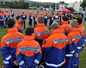Aus ganz Nordrhein Westfalen war der Feuerwehrnachwuchs zur Leistungsprüfung nach Kall gekommen. Foto: Reiner Züll