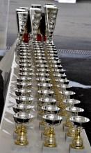 Bei den Rennen der Oldtimer gab es am Wochenende zahlreiche Pokale zu gewinnen. Foto: Reiner Züll