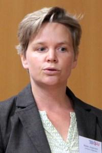 Meike Jürgensen berichtete von ihren persönlichen Erfahrungen als junge Unternehmerin. Bild: Michael Thalken/Eifeler Presse Agentur/epa