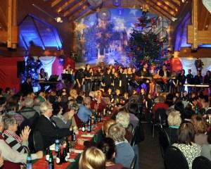 Die Paveier-Konzerte in Kommern sind sehr begehrt. Dazu werden befreundete Musiker und Gruppen aus der Region eingeladen, wie hier der Kinderchor St. Peter aus Zülpich. Foto: Reiner Züll