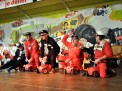 Sportlich, sportlich: Der Elferrat nach seiner Ankunft auf der Bühne. Foto: Reiner Züll
