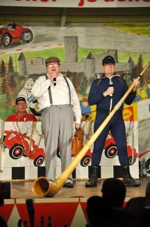 """Das Duo """"Horst und Ewald"""" strapazierte die Lachmuskeln der Sitzungsbesucher gewaltig. Foto: Reiner Züll"""