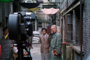 Peter Finkelgruen bei den Dreharbeiten in Shanghai. Bild: Dietrich Schubert