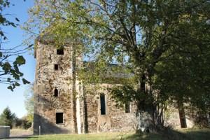 Auch die Reste der Sankt Rochus Kirche gehören mit zu den Zeugen der Wollseifener Vergangenheit. Bild: Michael Thalken/Eifeler Presse Agentur/epa