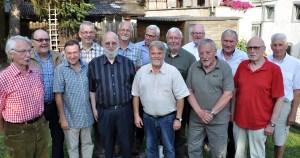 Wollen sich künftig alle fünf Jahre treffen: Die Kaller Alt-Pfadfinder, die vor 50 Jahren an einem abenteuerlichen Lager auf der Insel Korsika teilgenommen haben. Foto: Reiner Züll