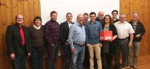 Der neue Vorstand der Kaller SPD präsentierte sich mit seinen Gästen vor der Kamera. Bild: SPD Kall