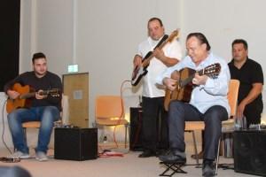 Jermaine (v.l.), Sascha, Mike und Bawo Reinhardt spielten über zwei Stunden lang in Euskirchen. Bild: Tameer Gunnar Eden/Eifeler Presse Agentur/epa