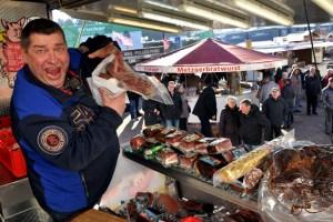 Die Marktschreier gastierten drei Tage lang bei Möbel Brucker in Kall. Foto: Reiner Züll