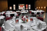 Die Refas und Hofas hatten die Tische für das Prüfungsessen des 39. Jugendwettbewerbes festlich eingedeckt und dekoriert. Foto: Reiner Züll