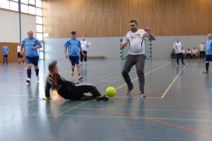 Rasante Spielszene aus Rsant ging es auch beim Spiel Caritasverband Eifel gegen Köln Ring Wohnen zu. Bild: Rodger Ody