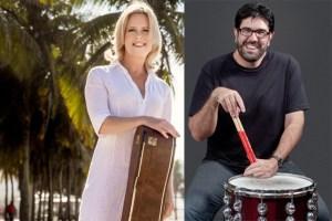 Ulla Haesen und der Schlagzeuger Kiko Freitas aus Rio de Janeiro gastieren in der Eifelhöhenklinik Marmagen. Bild: Haesen/Freitas