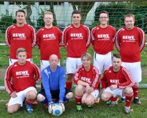 Die Mannschaft des Kaller Rewe-Centers beim Firmenturnier. Foto: Reiner Züll