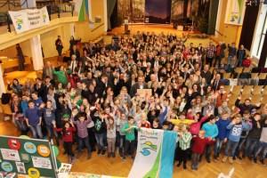 46 Nationalpark-Schulen erhielten im Kurhaus Schleiden-Gemünd ihr Zertifikat. Foto: M.Weisgerber/Nationalparkverwaltung Eifel