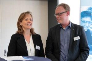 Eva Balduin und Henning Schneider freuten sich über die ene als starken Kooperationspartner. Bild: Michael Thalken/Eifeler Presse Agentur/epa
