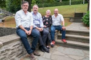 Eddi Meier (v.l.), Jürgen Knauf, Elisabeth Geschwind und Martin Schöddert freuen sich auf die 23. Kronenburger Kunst- und Kulturtage. Bild: Martin Schröddert