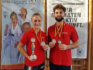 Jessica Rau und Triumf Beha vom Taekwondo Club Schleiden sind national wie international erfolgreich und sicherte sich wieder den Deutschen Meister Titel. Foto: Taekwondo Club Schleiden